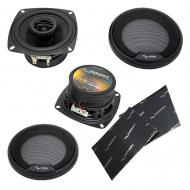 "Harmony Audio HA-R4 Car Stereo Rhythm Series 4"" Replacement 150W Speakers & Grills Bundl..."