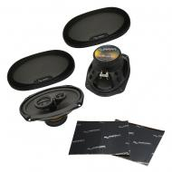 """Harmony Audio HA-R69 Car Stereo Rhythm Series 6x9"""" Replacement 450W Speakers Bundle with Har..."""