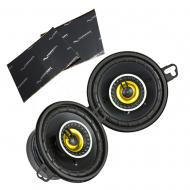 """Kicker 46CSC354 Car Audio 3 1/2"""" Coaxial Full Range Stereo Speakers Pair CSC35 Bundle with H..."""