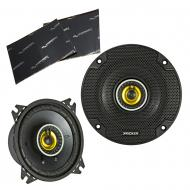 """Kicker 46CSC44 Car Audio 4"""" Coaxial Full Range Stereo Speakers Pair 4 Ohm CSC4 Bundle with H..."""