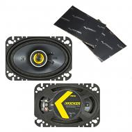 """Kicker 46CSC464 Car Audio 4x6"""" Coaxial Full Range Stereo Speakers Pair CSC46 Bundle with Har..."""