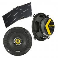 "Kicker 46CSC54 Car Audio 5 1/4"" Coaxial Full Range Stereo Speakers Pair CSC5 Bundle with Har..."