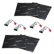 Harmony Audio (2) HA-729301 Factory Speaker Replacement Harness Bundle with Sound Dampening Speak...