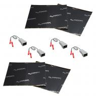 Harmony Audio (2) HA-725510 Factory Speaker Replacement Harness Bundle with Sound Dampening Speak...