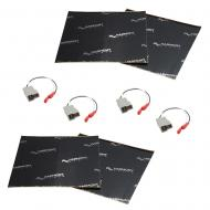 Harmony Audio (2) HA-729300 Factory Speaker Replacement Harness Bundle with Sound Dampening Speak...
