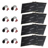 Harmony Audio (4) HA-726512 Factory Speaker Replacement Harness Bundle with Sound Dampening Speak...