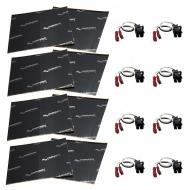 Harmony Audio (4) HA-724568 Factory Speaker Replacement Harness Bundle with Sound Dampening Speak...