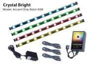 "American DJ ACCENT STRIP RGB BLACK 10"" Cool RGB LEDs (4 Pack)"