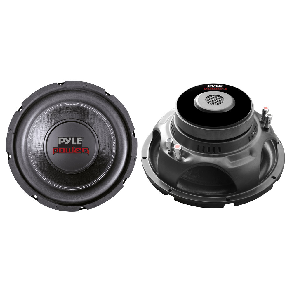 pyle plpw10d 10 1000 watts dual 4 ohm subwoofer speaker. Black Bedroom Furniture Sets. Home Design Ideas