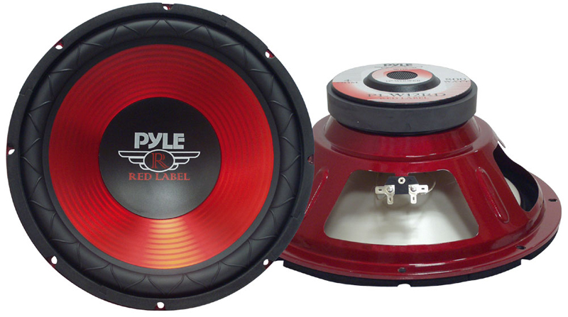 Pyle Car Audio PLW10RD 10 Inches 600 Watt Subwoofer - Red