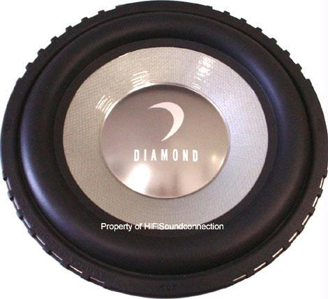 "Diamond Audio TDX10D4 10"" TDX Car Audio Subwoofer"