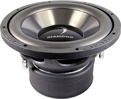 "Diamond Audio D312D4.2 Car Stereo D3 Series 12"" Dual 4 Ohm Sub Subwoofer"