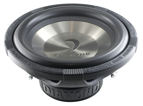 Diamond D112D4 Car Audio D1 Series 250W Dual 4 Ohm Subwoofer
