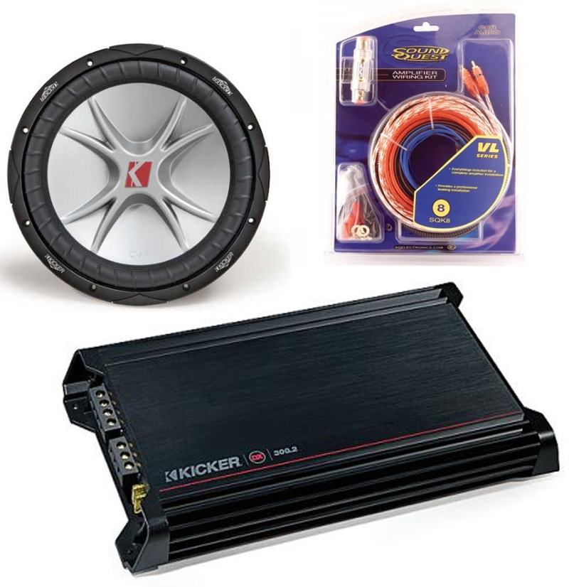 Kicker Subwoofer Package Includes Cvr12 Dual 2 Ohm  Dx300