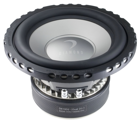 Diamond D615D4 Car Audio D6 Series 750W Dual 4 Ohm Subwoofer