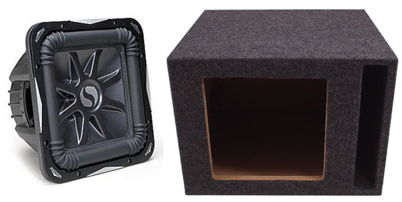 "Kicker Subwoofer Package S15L7 Sub & Vented 15"" Enclosure"