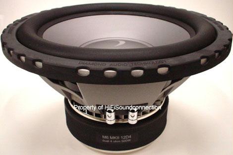 Diamond Audio M6MKII15D2 Car Audio 15 Inch Sub Woofer Dual 2 Ohm Speaker