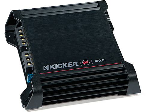 Kicker Car Stereo 10DX100.2 DX Series 2 Channel Speaker Amplifier 2010 DX100.2