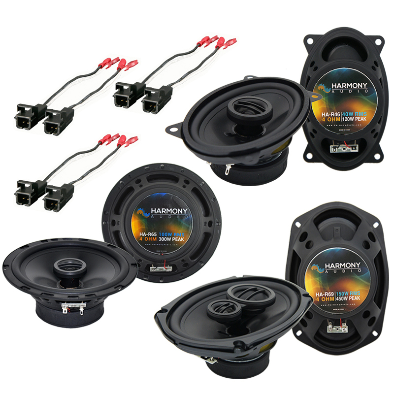 Harmony Audio Compatible With 1988-89 Cadillac DeVille HA-R65 HA-R46 HA-R69 New Factory Speaker Replacement Upgrade Package