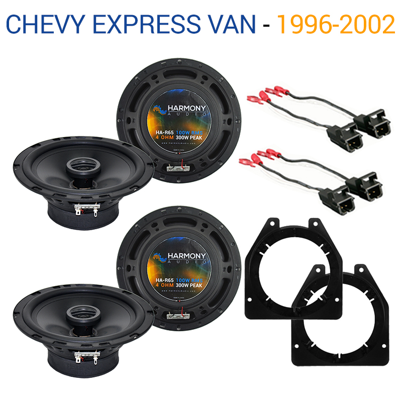 Chevy Express Van 1996-2007 Factory Speaker Upgrade Harmony (2) R65 Package New