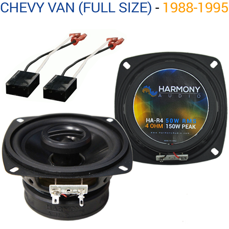 Chevy Van (Full Size) 1988-1995 Factory Speaker Upgrade Harmony R46 Package New
