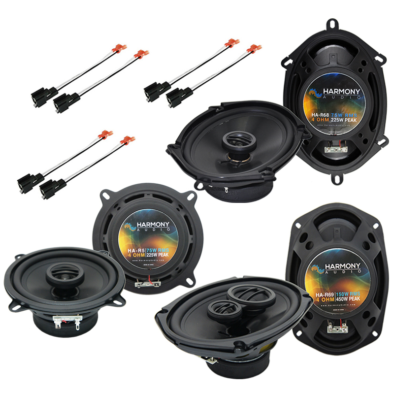Harmony Audio Bundle Compatible with 2002-2007 Chrysler Town & Country HA-R68 HA-R5 HA-R69 New Factory Speaker Replacement Upgrade Package