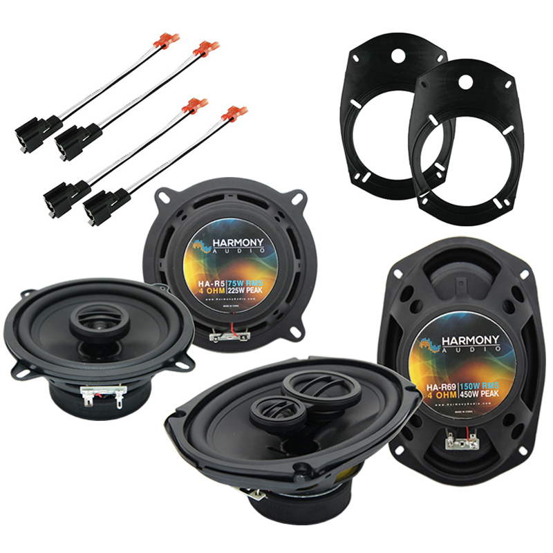 Harmony Audio Bundle Compatible with 2003-2005 Dodge Ram Truck 2500/3500 HA-R69 HA-R5 New Factory Speaker Replacement Upgrade Package