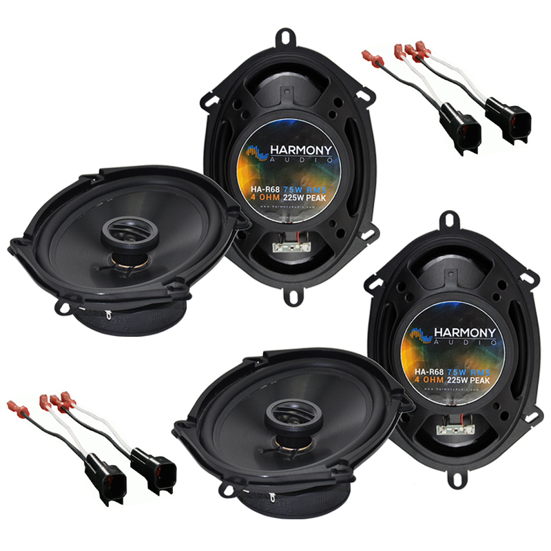 """Harmony Audio Bundle Compatible with 2001-2012 Ford Escape (2) HA-R68 5x7"""" 6x8"""" New Factory Speaker Replacement Upgrade Package 225W Speakers With HA-725600 Speaker Replacement Harness"""