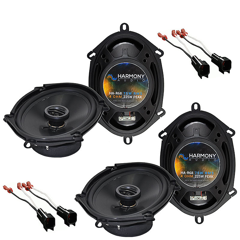 Harmony Audio Compatible With 2004-08 Ford F-150 (2) HA-R68 New Factory Speaker Replacement Upgrade Package