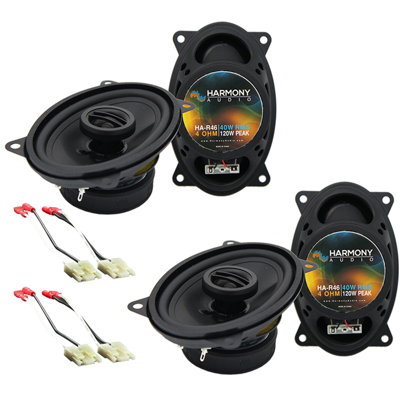 Harmony Audio Compatible With 1988-94 GMC Sierra (2) HA-R46 New Factory Speaker Replacement Package Upgrade