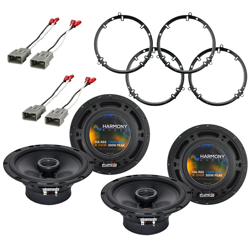"""Harmony Audio Bundle Compatible with 2001-2005 Honda Civic (2) HA-R65 6.5"""" New Factory Speaker Replacement Upgrade Package 300W Speakers with HA-827803 Speakers Adapter Kit And HA-727800 Speaker Replacement Harness"""