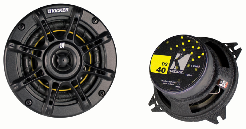 kicker car audio ds400 4 speakers fit many bmw models closeout package 244. Black Bedroom Furniture Sets. Home Design Ideas