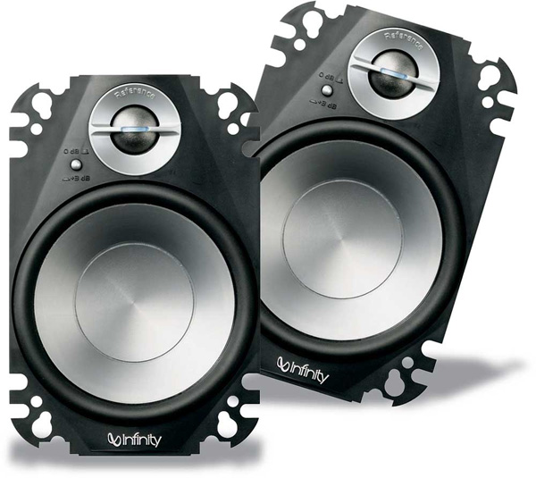 Infinity 6422cfp Car Audio 4x6 Reference 2 Way Plate Speakers