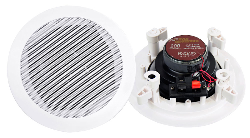 Pyle Home Audio PDIC61RD 6.5' Two-Way In-Ceiling Speaker System (Pair)