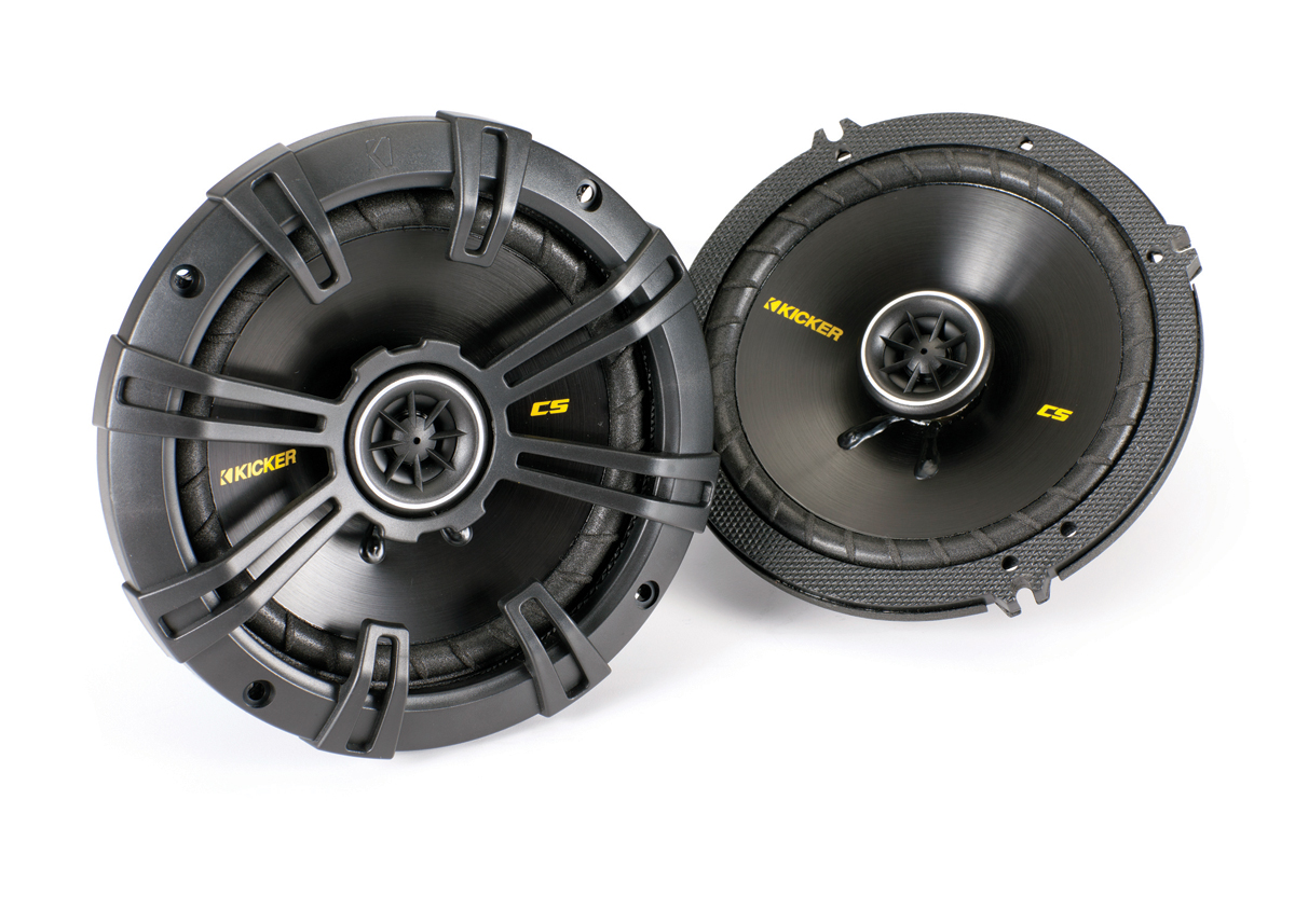 "Kicker Car Audio CS654 6-1/2"" CS-Series Coaxial Stereo Speakers 300W Peak  Power 100-Watts RMS with 1/2"" Tweeter (40CS654)"