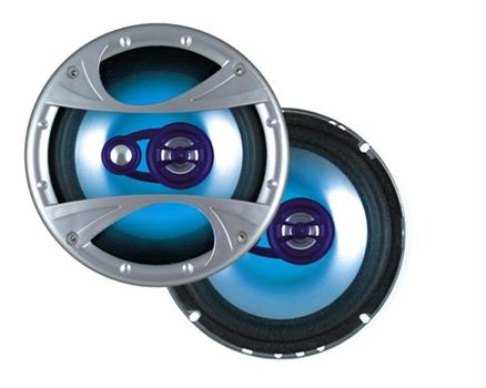 Dual XiN6X53 3-Way 6.5 Inch Illuminated Speakers 140 Watts