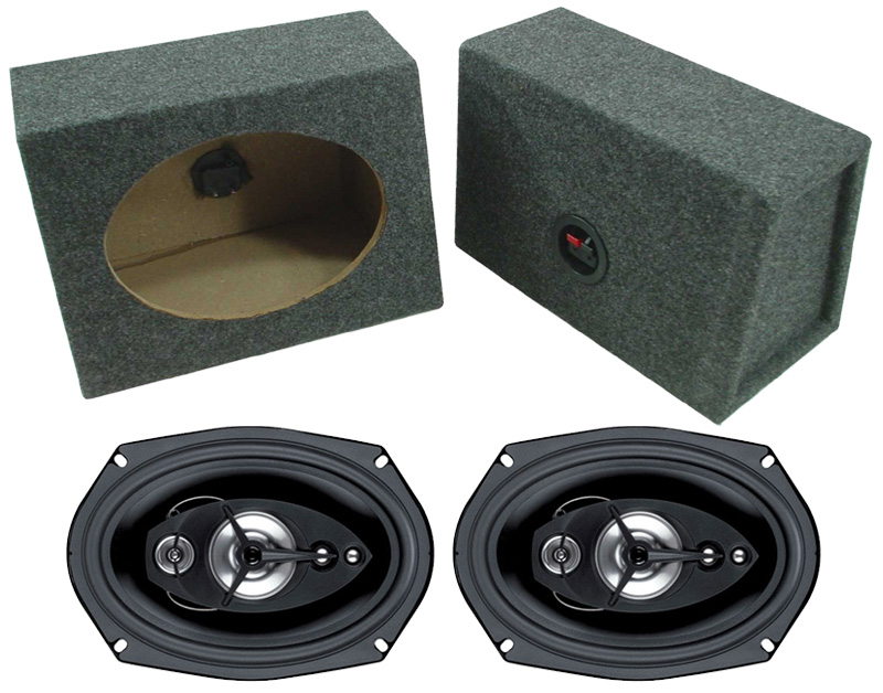 speakers in box. boss car audio loaded angle cut 6x9\ speakers in box