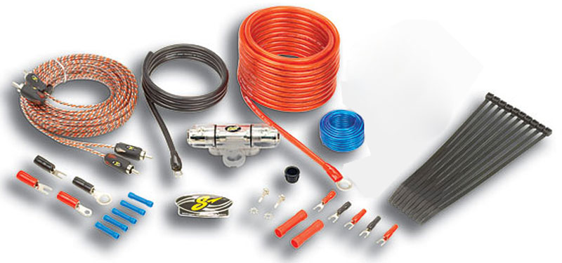 Stinger SK4681 Car Audio 4000 Series 8 Gauge Power Amp Install Kit & RCA Cables