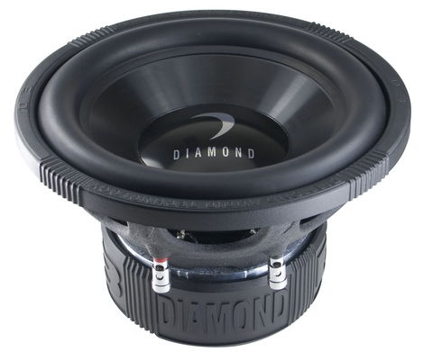 Diamond D308D4 Car Audio D3 Series 200W Dual 4 Ohm Subwoofer