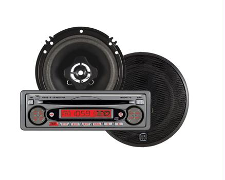 "Dual CP5261 AM/FM/CD RECEIVER WITH DETACH FACE & 6.5"" Speakers"