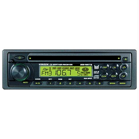 Dual XD622W AM/FM/CD Receiver W/ Detachable Face & Aux Input