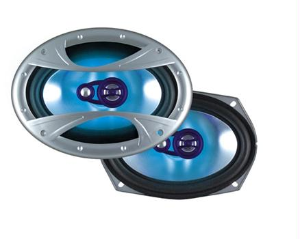 "Dual Xin6X93 3-Way 6""x9"" Illuminite Speakers 150 Watts"
