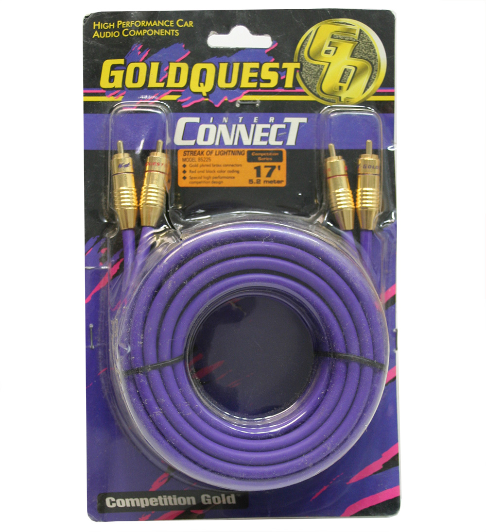 Gold Quest 85225 Car Audio 17 Foot RCA Amp Amplifier Interconnect Stereo Cable