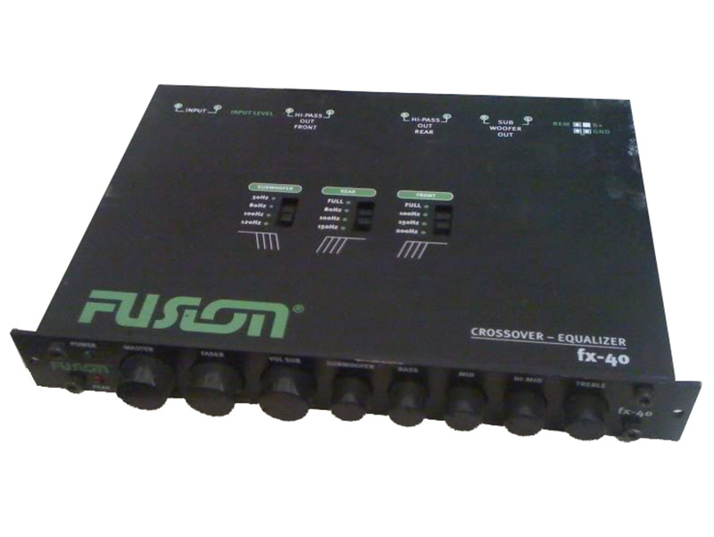 Fusion Audio FX40 Line Driver / Crossover / 5 Band EQ Half DIN Dash Mount