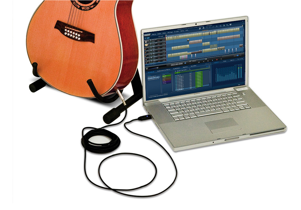 DJ Tech Jack-2-USB Jack to USB Cable included Recording software with MAGIX Music Maker