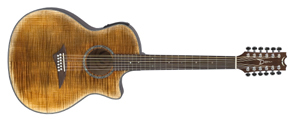 dean acoustic guitar exotica flame maple 12 string grover tuners abalone rosette faded tiger. Black Bedroom Furniture Sets. Home Design Ideas