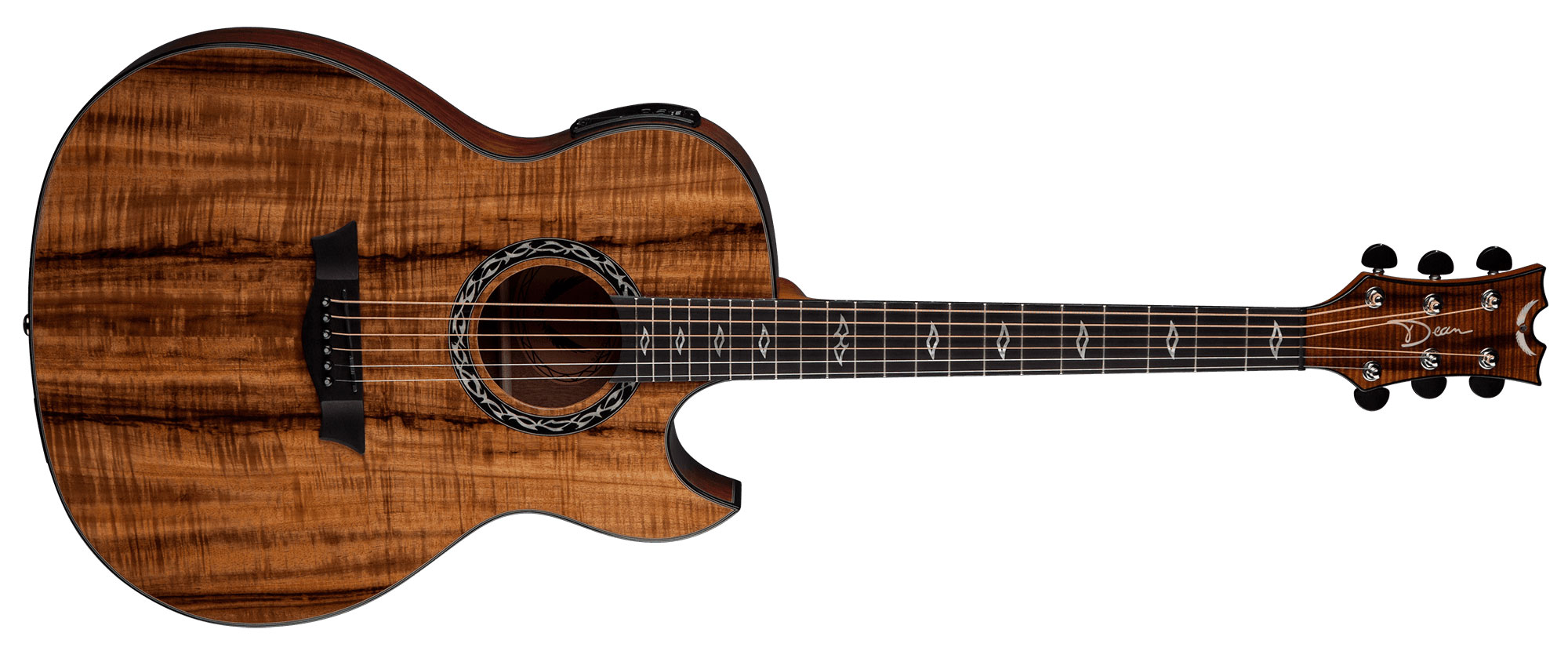 dean exhibition koa 6 string acoustic electric guitar w aphex exciter gloss natural ex koa. Black Bedroom Furniture Sets. Home Design Ideas