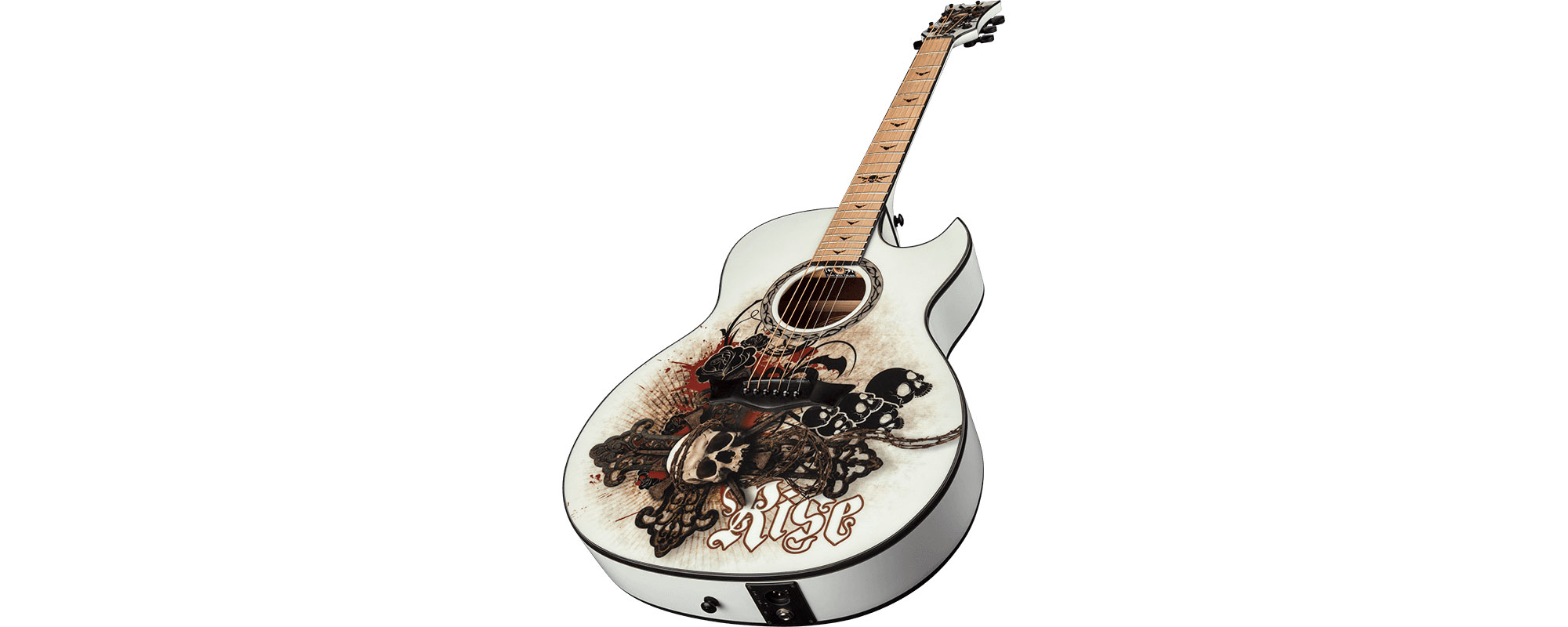 dean exhibition 6 string acoustic electric guitar w aphex exciter resurrection graphic ex. Black Bedroom Furniture Sets. Home Design Ideas