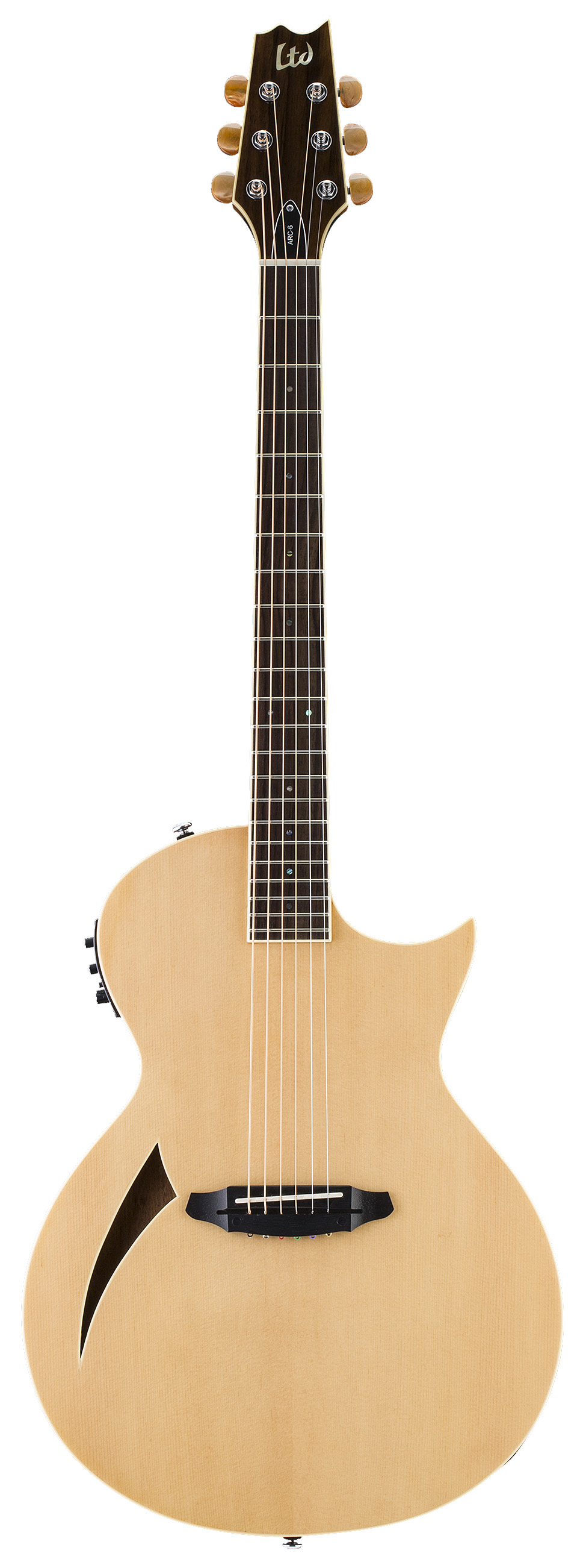 ESP LTD ARC-6 NAT Arc Series Electric Guitar with Spruce Top and Natural Finish