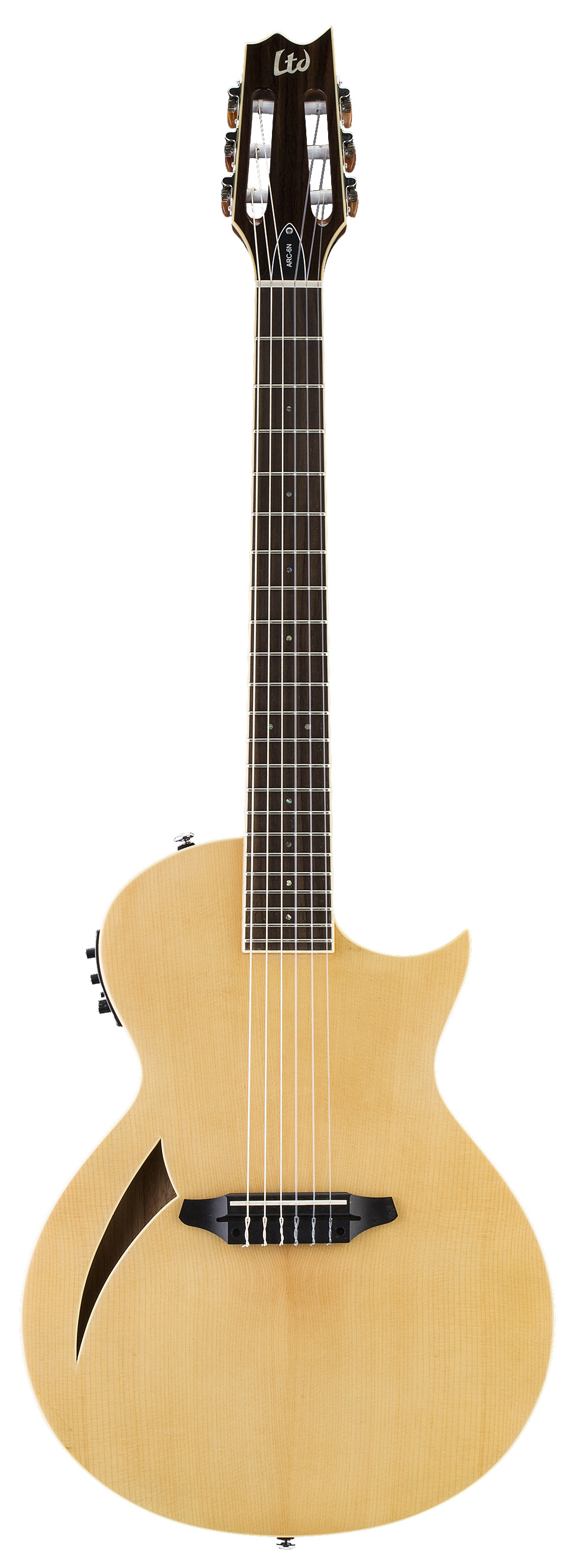 ESP LTD ARC-6N NAT Arc Series Electric Guitar with 22 J Frets & Tuners Natural Finish
